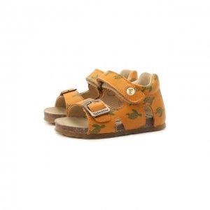 Кожаные сандалии Falcotto. Цвет: коричневый