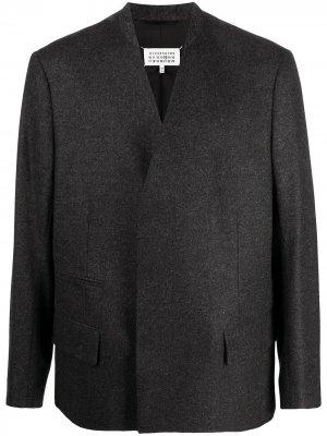 Пиджак с декоративной строчкой Maison Margiela. Цвет: серый