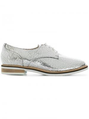 Ботинки-дерби с потрескавшимся эффектом Hogl. Цвет: серый