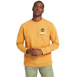 Толстовки NNH Crew Neck Sweatshirt Timberland. Цвет: оранжевый