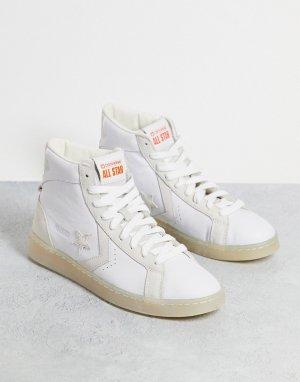 Высокие кожаные кроссовки белого цвета в утилитарном стиле Pro Leather Hi Future Utility-Черный цвет Converse