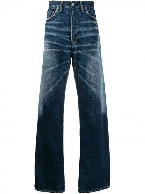 Джинсы широкого кроя Yohji Yamamoto. Цвет: синий