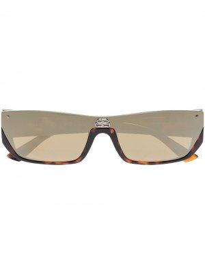 Солнцезащитные очки Shield Balenciaga Eyewear. Цвет: коричневый