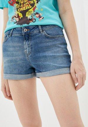 Шорты джинсовые LC Waikiki. Цвет: синий