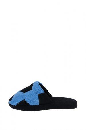 Тапочки PlayToday. Цвет: голубой, черный
