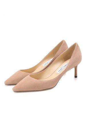 Замшевые туфли Romy 60 Jimmy Choo. Цвет: бежевый