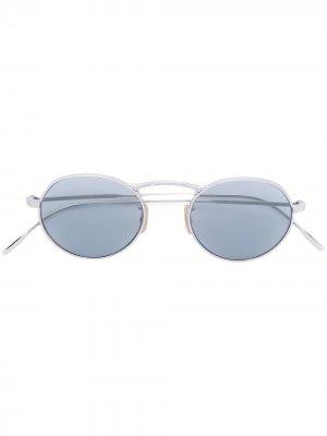 Солнцезащитные очки с круглой оправой M-4 30th Oliver Peoples. Цвет: золотистый