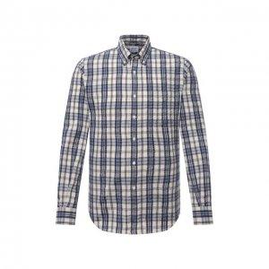 Хлопковая рубашка Aspesi. Цвет: разноцветный