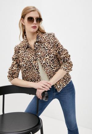 Куртка джинсовая Liu Jo. Цвет: коричневый