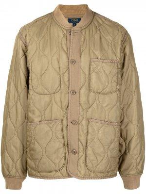 Куртка в стиле милитари Polo Ralph Lauren. Цвет: коричневый