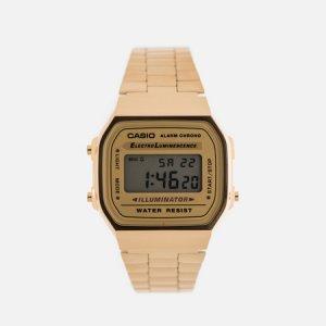 Наручные часы Collection A-168WG-9 CASIO. Цвет: золотой