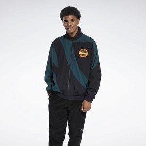Спортивная куртка Classics Vintage Reebok. Цвет: black / forest green