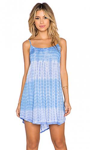 Мини платье skye Tiare Hawaii. Цвет: синий