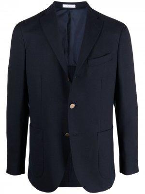 Пиджак на пуговицах Boglioli. Цвет: синий