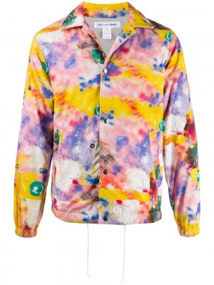 Куртка с графичным принтом Comme Des Garçons Shirt. Цвет: розовый
