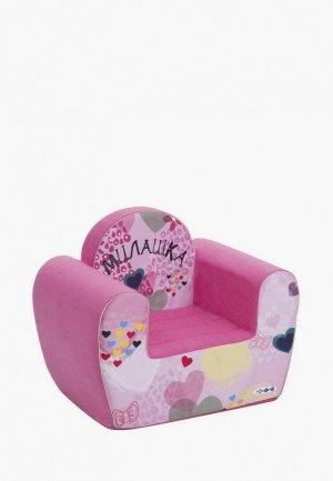 Игрушка мягкая Paremo Игровое кресло серии Инста-малыш, Милашка. Цвет: розовый
