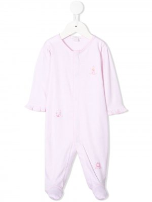 Пижамный комбинезон с вышивкой Kissy. Цвет: розовый