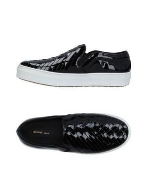 Низкие кеды и кроссовки CELINE. Цвет: черный