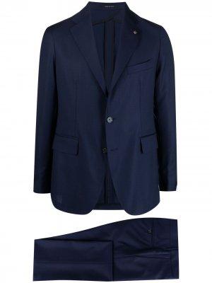 Строгий костюм Tagliatore. Цвет: синий