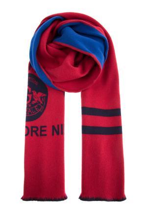 Яркий шарф из шерстяной фланели GUCCI. Цвет: мульти