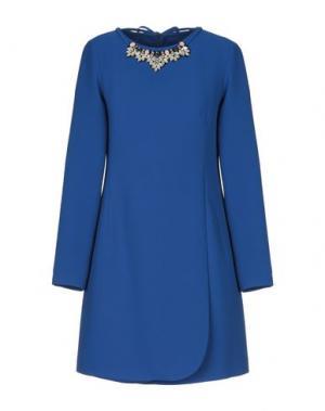 Короткое платье X'S MILANO. Цвет: ярко-синий