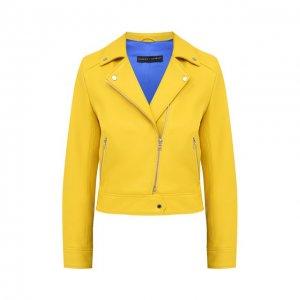 Кожаная куртка Maslov. Цвет: жёлтый