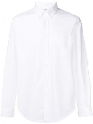 Однотонная рубашка на пуговицах Aspesi. Цвет: белый