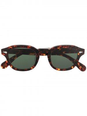 Солнцезащитные очки Posh 100 Lesca. Цвет: коричневый