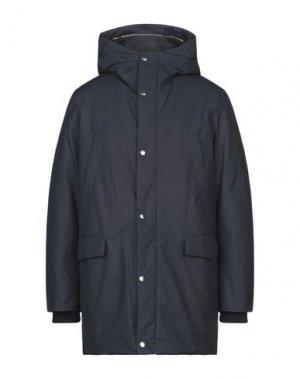 Пальто AQUASCUTUM. Цвет: темно-синий