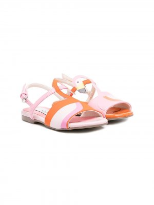 Сандалии с ремешками Stella McCartney Kids. Цвет: розовый