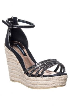 Wedge sandals GianMarco Venturi. Цвет: black