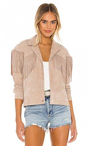 Пальто nashville Understated Leather. Цвет: серо-коричневый