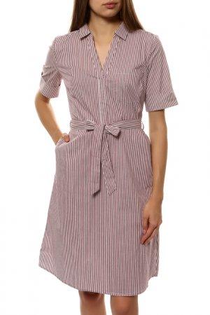 Платье Comma. Цвет: коричневый