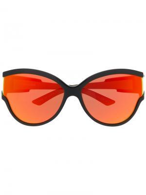 Солнцезащитные очки в круглой оправе Unlimited Balenciaga Eyewear. Цвет: черный