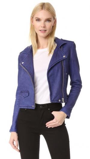 Кожаная куртка Ashville IRO. Цвет: летний голубой