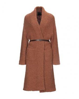 Пальто ROBERTO COLLINA. Цвет: коричневый