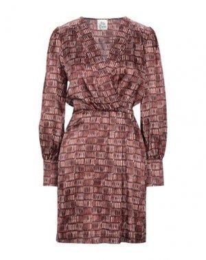 Короткое платье ATTIC AND BARN. Цвет: какао