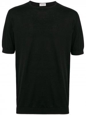 Базовая футболка John Smedley. Цвет: черный