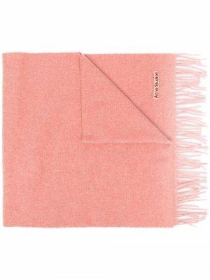 Logo patch cashmere scarf Acne Studios. Цвет: розовый