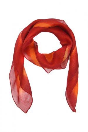 Платок F.FRANTELLI. Цвет: оранжевый, бордовый