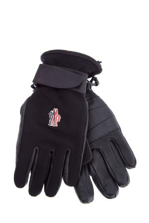 Перчатки MONCLER. Цвет: черный