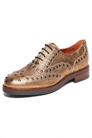 Low shoes BAGATT. Цвет: gold
