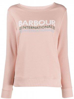 Толстовка с логотипом Barbour. Цвет: розовый