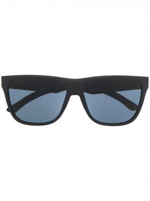 Солнцезащитные очки в массивной оправе Smith. Цвет: черный