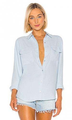 Блузка signature Equipment. Цвет: нежно-голубой