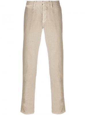 Классические брюки-чинос узкого кроя Incotex. Цвет: коричневый