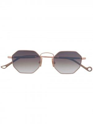 Солнцезащитные очки в восьмиугольной оправе Eyepetizer. Цвет: золотистый