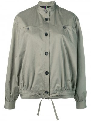 Куртка-бомбер на пуговицах PS Paul Smith. Цвет: зеленый