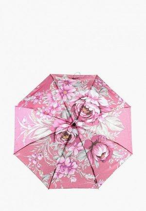 Зонт складной Flioraj. Цвет: розовый