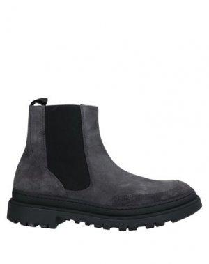 Полусапоги и высокие ботинки BOEMOS. Цвет: стальной серый